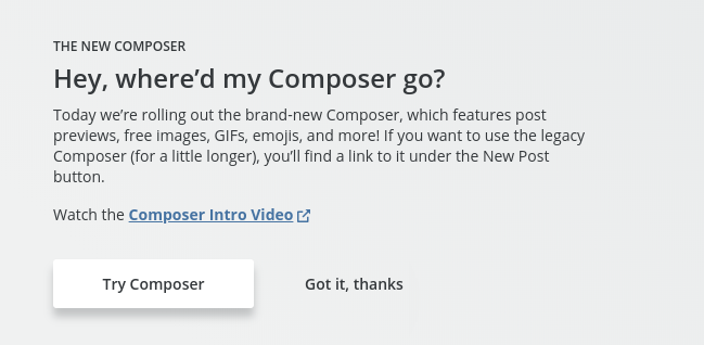 Hootsuite - where did my composer go