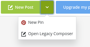 drop down arrow to schedule pins