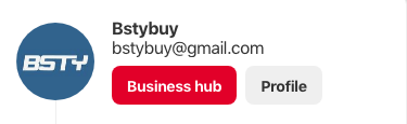 Pinterest business hub profile