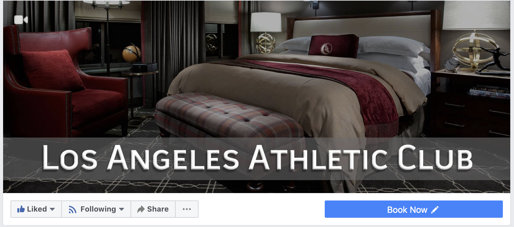 Book Now Button On Los Angeles Athletic Club Hotel Facebook