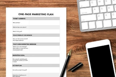 one page marketing plan image