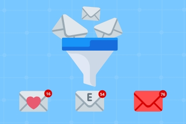 Set up email programs to do the sorting for you