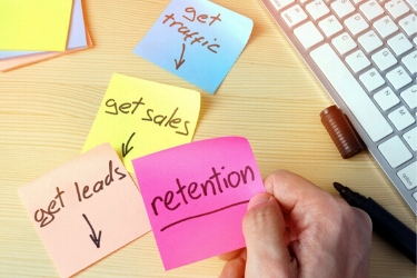 Post It with the word retention