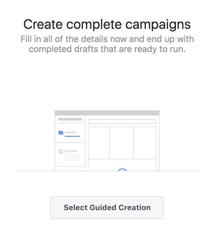 creating Facebook Ads with Guided Creation