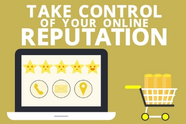 Take control of your online reputation graphic