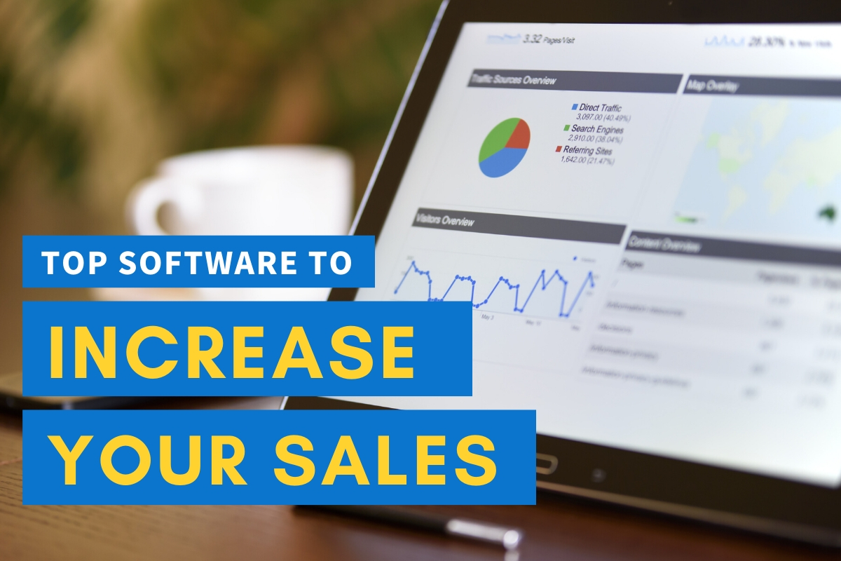 Screen with Marketing Software