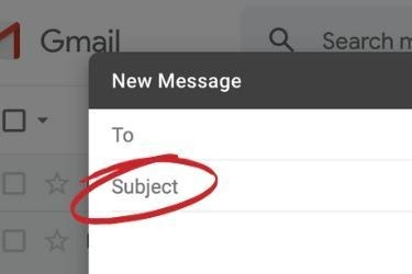 Gmail Subject Line Box