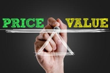 Balance between Price vs Value concept