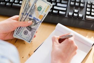 Person establishing a budget