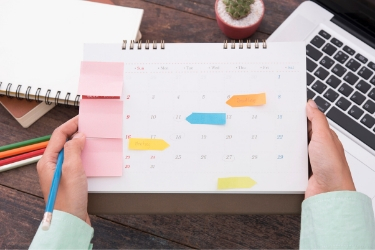 Content Calendar with scheduled posts