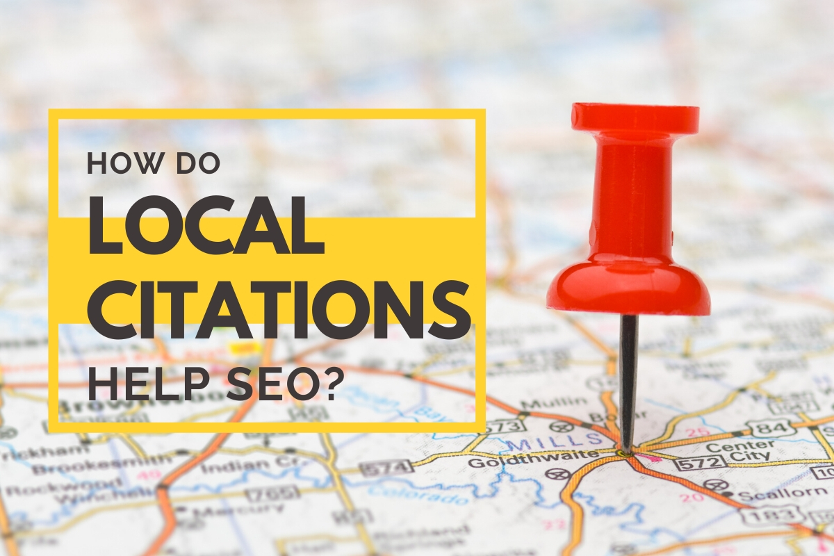 How Do Local Citations Help SEO? - Map with a red pin
