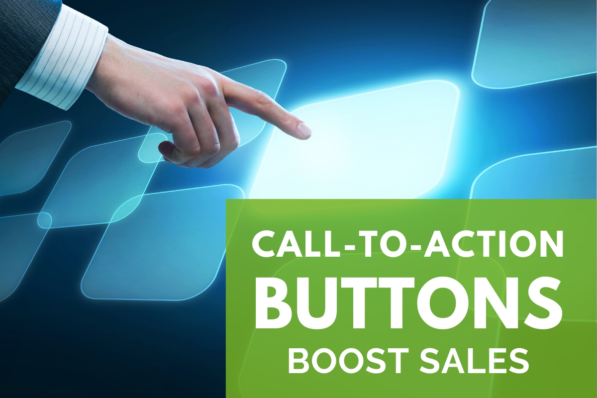 Hand pressing a button - Call-To-Action Buttons Boost Sales