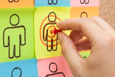 Target specific groups - Person pinning a target