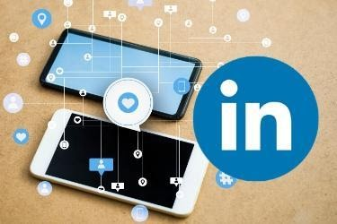 LinkedIn Logo with two mobile devices - connection