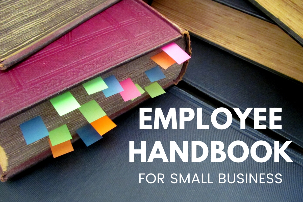 Book with notes - Employee Handbook for Small Business
