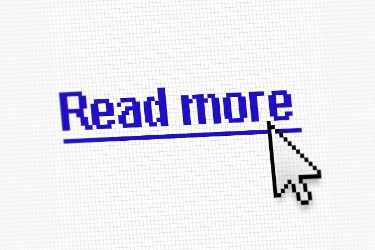 "Cursor above a link that says ""Read more"""