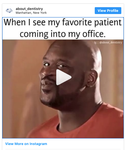 Instagram Post - When I see my favorite patient coming into my office (Happy man).