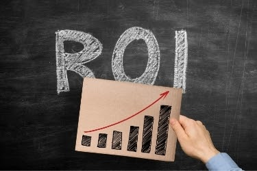 ROI with a growth graphic