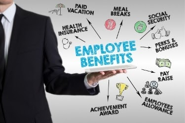 Employee Benefits - Paid vacation, meal breaks, social security, perks and bonuses, pay raise, employees allowance, achievement award and health insurance.
