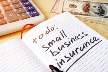 """Notebook with the text: """"To Do: Small Business Insurance"""""""