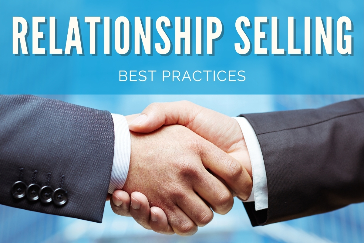 Two business man shaking hands - Relationship Selling Best Practices