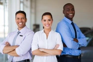 Group of people representing Sales Team