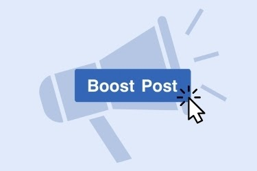 Megaphone with the Boost Post Button being clicked