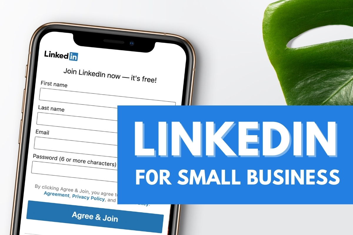 Mobile Phone screen with Linkedin open - LinkedIn for Small Business