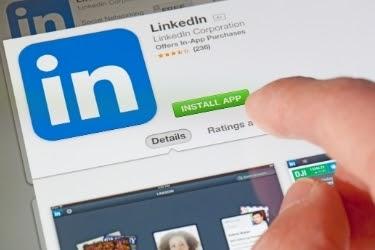 LinkedIn Install App screen