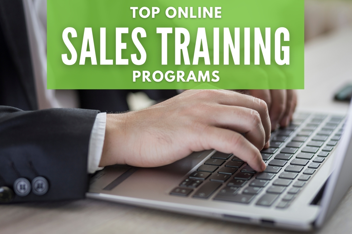 Business Man using a laptop - Top Online Sales Training Programs