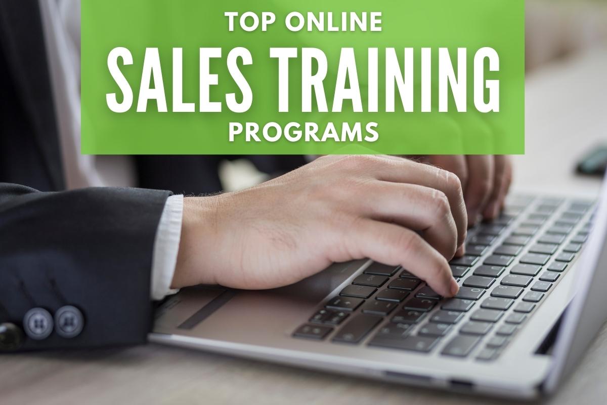 Business Man using a laptop - Top Online Sales Training Programs