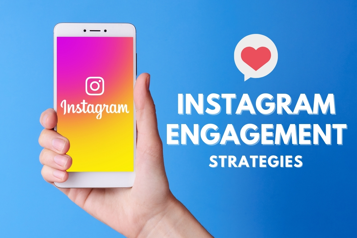 Hand holding a mobile phone with Instagram splash screen - Instagram Engagement Strategies
