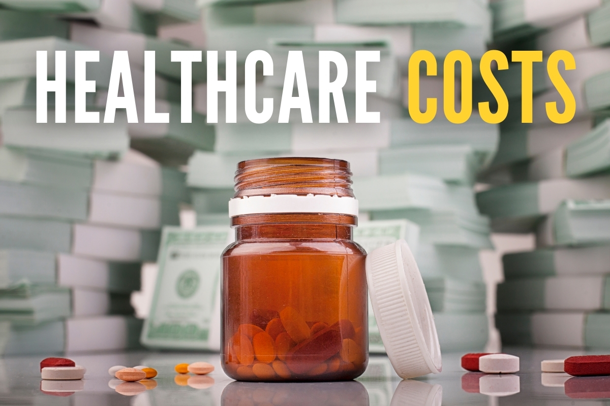 Pill container open with money in the background - Healthcare Costs