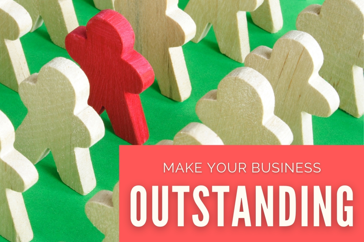 Lots of white carved wood pieces with one being more outstanding - Make your business outstanding