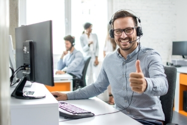 Man offering a great customer service