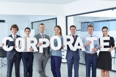 """Employees holding the word """"Corporate"""""""
