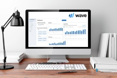 Computer with Wave Dashboard on the screen - https://www.softwareadvice.com/accounting/wave-profile/