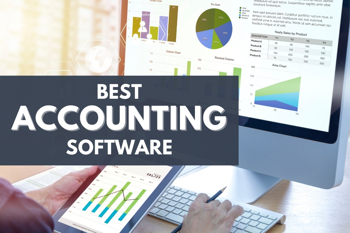 Computer screen showing accounting graphics - Best Accounting Softwares