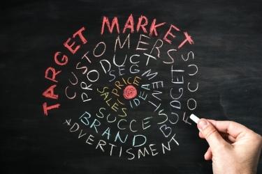 Target Market drawn in chalkboard