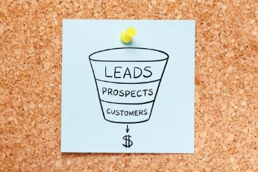 Marketing simple funnel - Leads, Prospects, customers, $