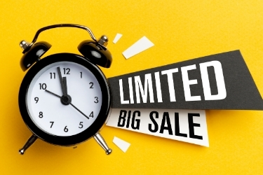 Bold Limited Big Sale ad with a clock