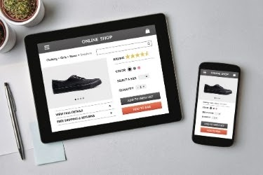 e-Commerce website selling shoes (tablet and mobile version)