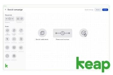 Keap Social Campaign screen