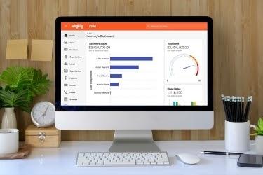 Insightly Dashboard in a desktop