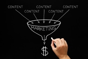 Marketing Funnel drawing - Content - Marketing - Profit