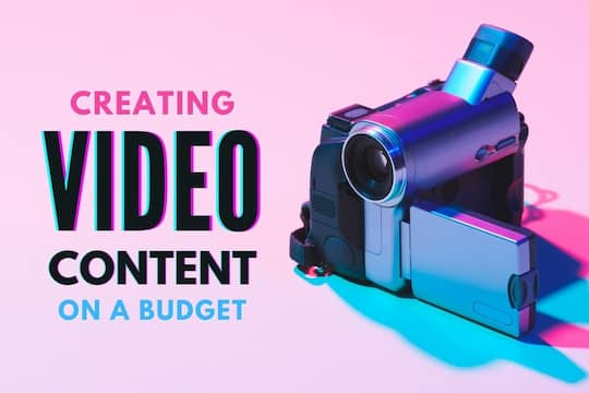 Video camera in a pink background - Creating Video Content on a Budget