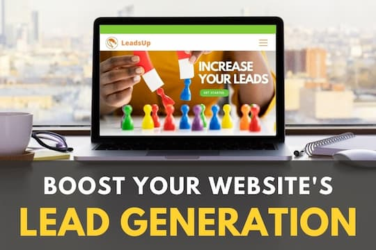 Laptop with a website - Boost your website's lead generation