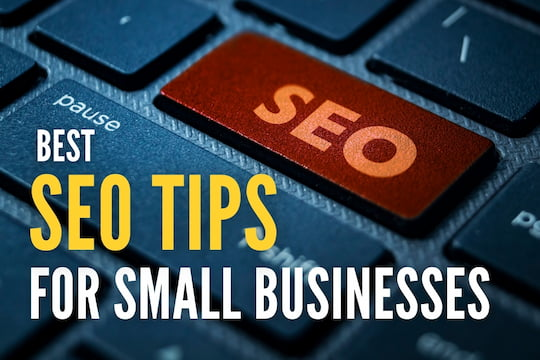 "Keyboard button with the word ""SEO"" - Best SEO Tips for Small Businesses"