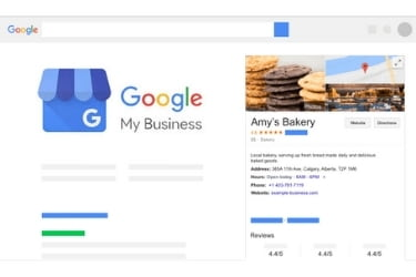 Google My Business - Example of business listing