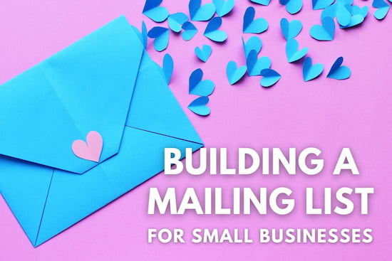 Paper letter - Building a Mailing List for Small Businesses